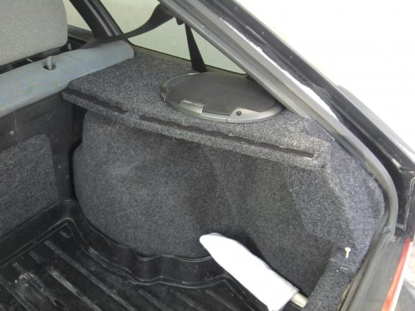 Изготовление акустической полки и подиумов на ВАЗ 2114