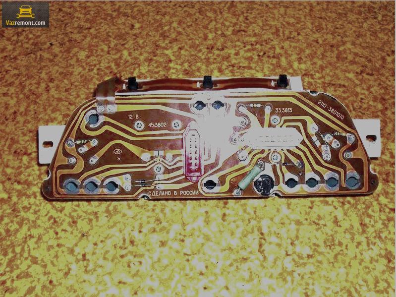 Схема, распиновка, ремонт приборной панели ВАЗ 2110