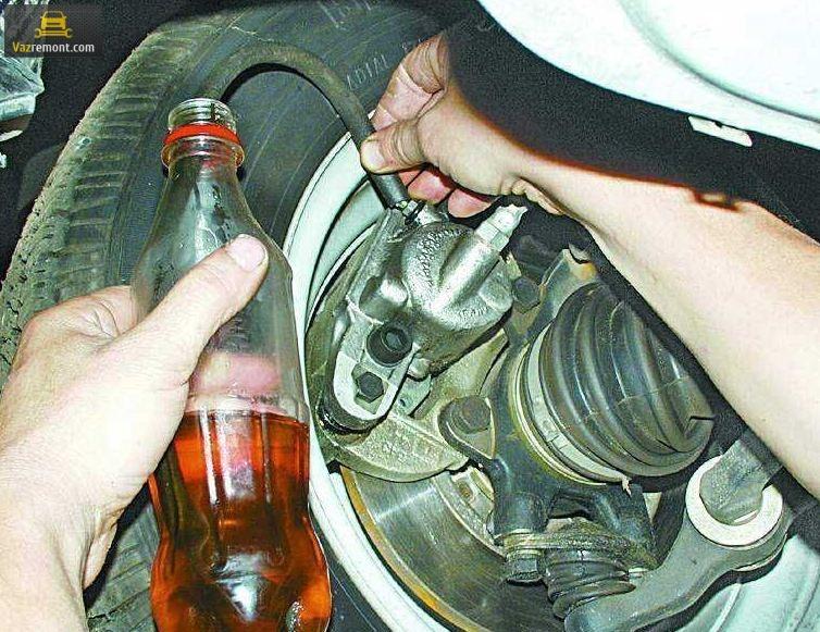 Схема тормозной системы ВАЗ 2110. Как прокачать тормоза?