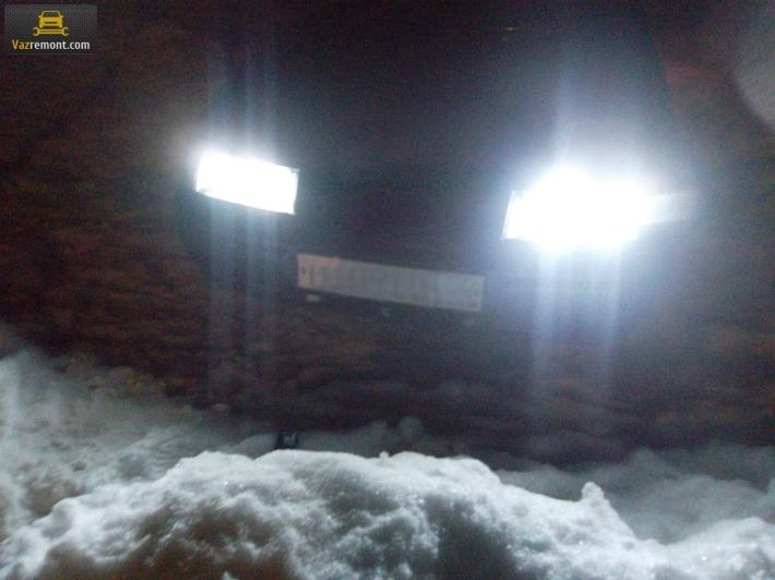 Установка фар Киржач на автомобиль Лада 2110