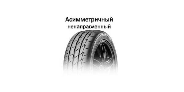 Ненаправленный рисунок протектора шины