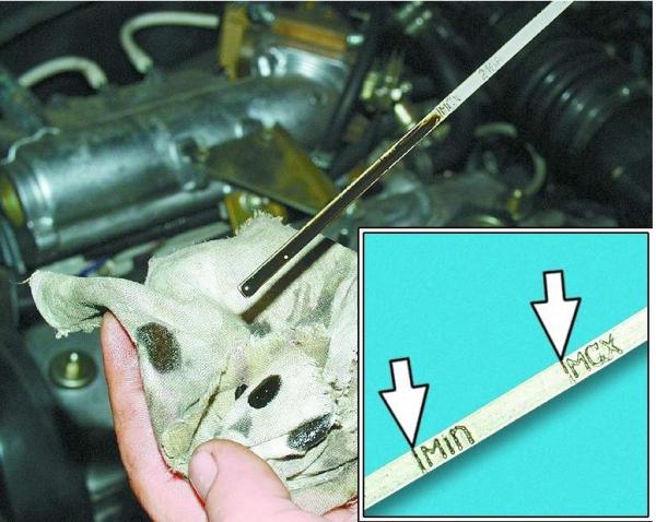 Процесс замены масла в двигателе ВАЗ 2110