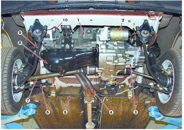 Схема и устройство передней подвески на ВАЗ 2109