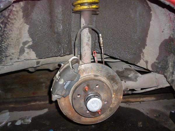 Установка задних дисковых тормозов на ВАЗ 2109