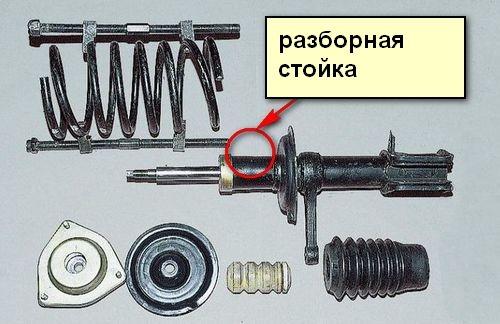 Устройство передних стоек на ВАЗ 2110: как снять, прокачать и заменить