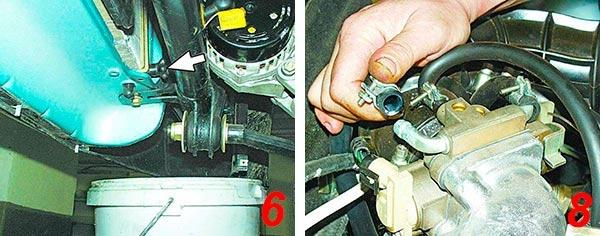 Замена охлаждающей жидкости ВАЗ 2110: закипает, уходит тосол
