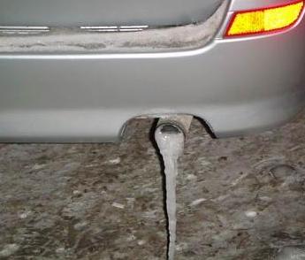 Что делать, если замерзла выхлопная труба автомобиля?